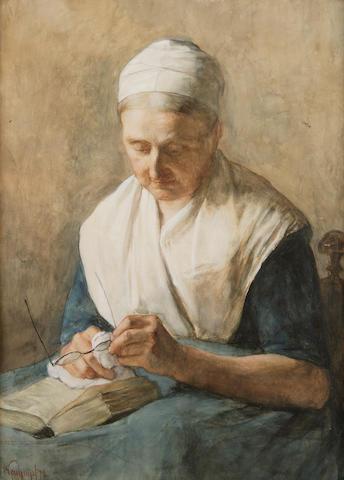 Albert Neuhuys (Dutch, 1844-1914) A good book