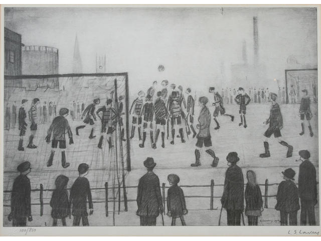 "Laurence Stephen Lowry R.A. (British, 1887-1976) ""The Football Match"","