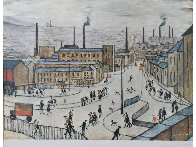 "Laurence Stephen Lowry R.A. (British, 1887-1976) ""Huddersfield"","