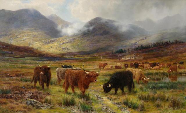 "Louis Bosworth Hurt (British, 1856-1929) ""Resting the drove - the hills of far Lochaber"""