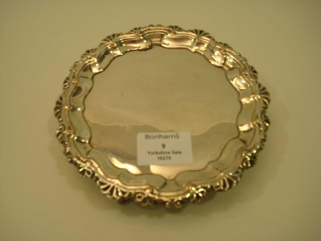 A late 18th Century Old Shefield Plate waiter unmarked, circa 1770