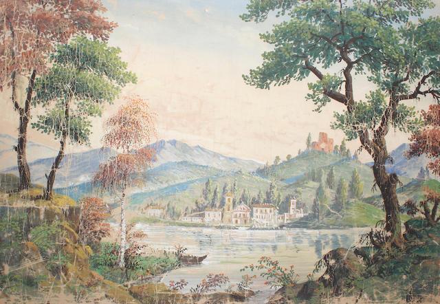 Italian School, circa 1900 An alpine lake