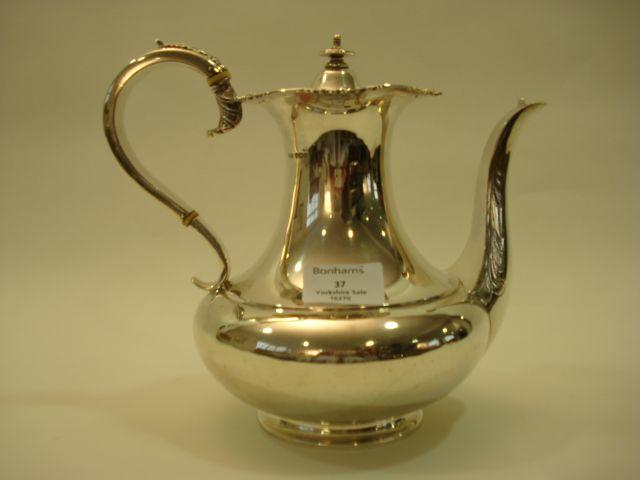 A George V coffee pot by James Dixon and Sons, Sheffield 1916