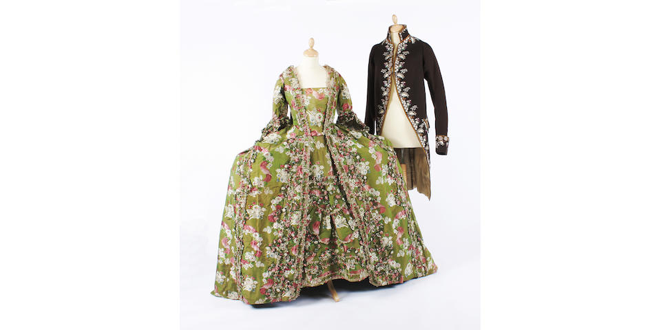 An 18th century French open robe