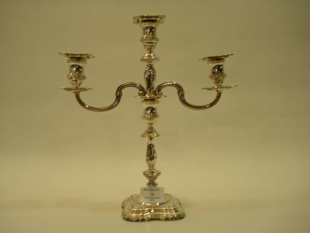 An Elizabeth II candelabrum by Roberts and Belk, Sheffield 1972