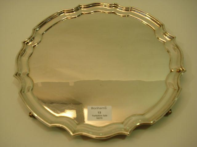An Elizabeth II  salver maker's mark R.H., Sheffield 1974