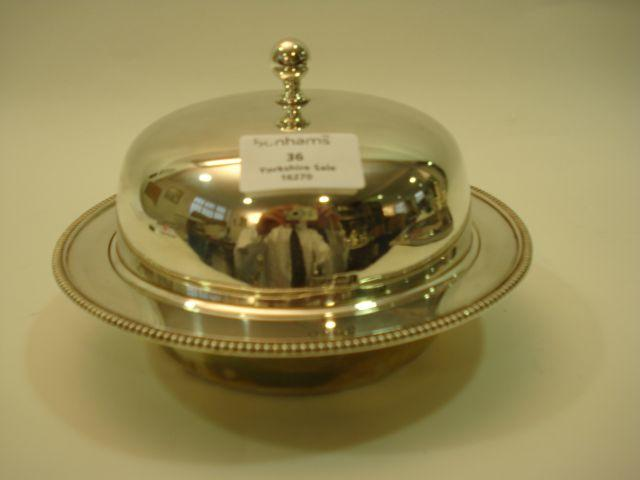 A George V  muffin dish and cover by Roberts and Belk, Sheffield 1916