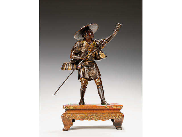 A Miyao bronze figure Meiji