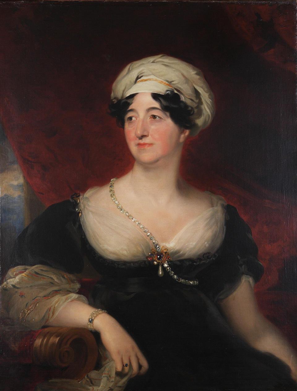 Attributed to Thomas Phillips (British, 1770-1845) Half length portrait of John, 4th Duke of Athole