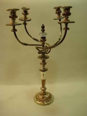 A 19th Century Old Sheffield Plate four-branch candelabrum by Matthew Boulton, circa 1800