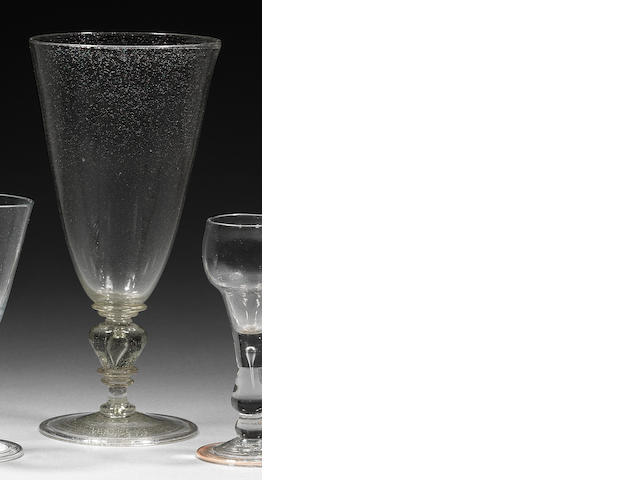 A large and early part-lead goblet Circa 1685.
