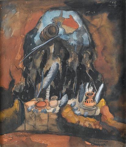Benedict Chukwukadibia Enwonwu, M.B.E (Nigerian, 1921-1994) Underwater still life
