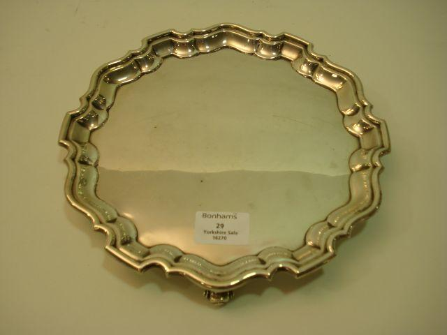 A George V salver by Martin Hall and Co Limited, Sheffield 1931