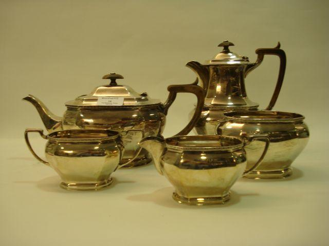 An Elizabeth II five-piece tea service by Cooper Bros and Sons Limited, Sheffield 1961