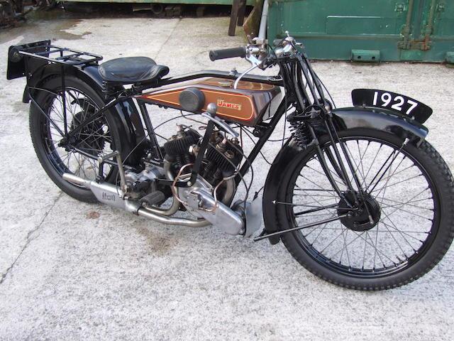 1927 James 3½hp Model 12 Sports Twin  Frame no. P.1062 Engine no. 1947