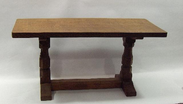 A Robert 'Mouseman' Thompson of Kilburn oak coffee table