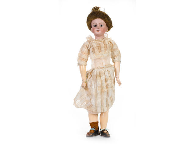 Rare Simon & Halbig 1159 bisque head character lady doll