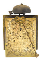 A fine late 17th century ebony veneered basket-topped quarter repeating bracket timepiece  Nathaniel