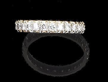A diamond full-hoop eternity ring