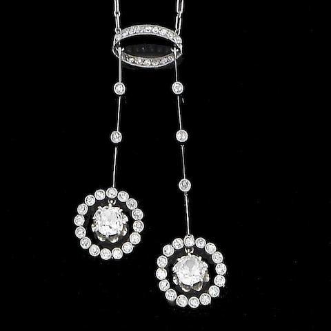 An diamond negligé pendant