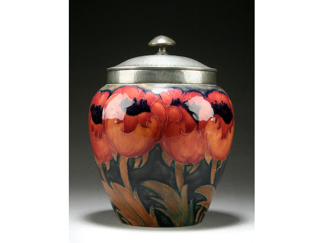 A Moorcroft 'Big Poppy' jar and cover