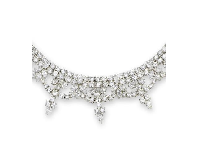 A diamond fringe necklace, by Dianoor