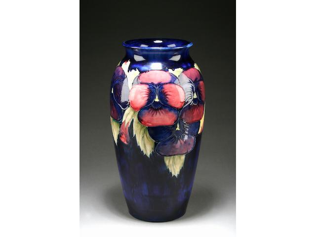 A Moorcroft 'Pansy' vase, circa 1925