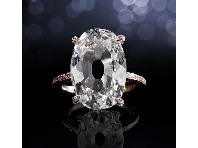 An impressive diamond single-stone ring, by Dianoor