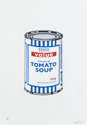 Banksy (British, born 1975) Soup Can Screenprint, 2005, printed in colours, on wove, signed, dated a