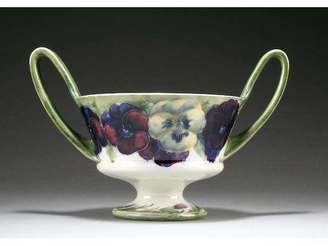 A Moorcroft twin-handled pansy bowl Circa 1916