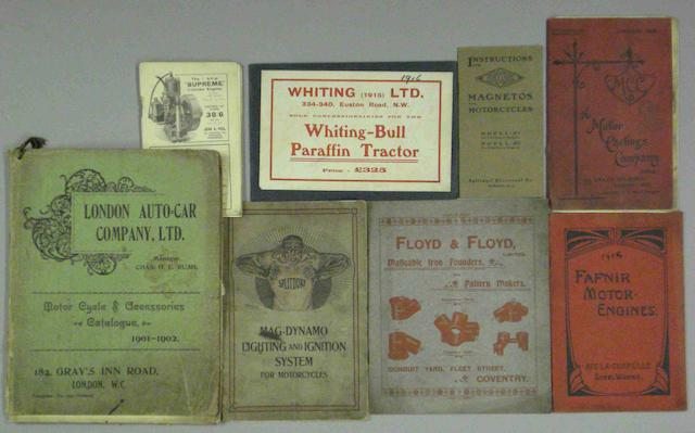 A lot of early motorcycle related brochures,