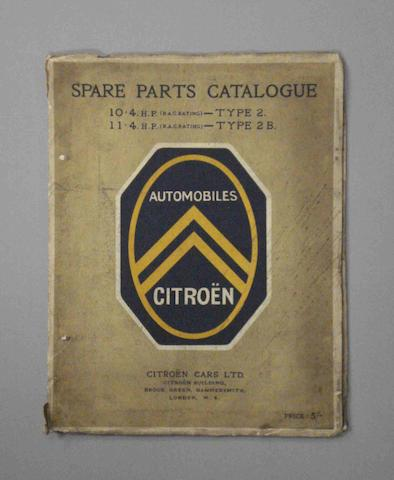 A Citroen Parts Catalogue,