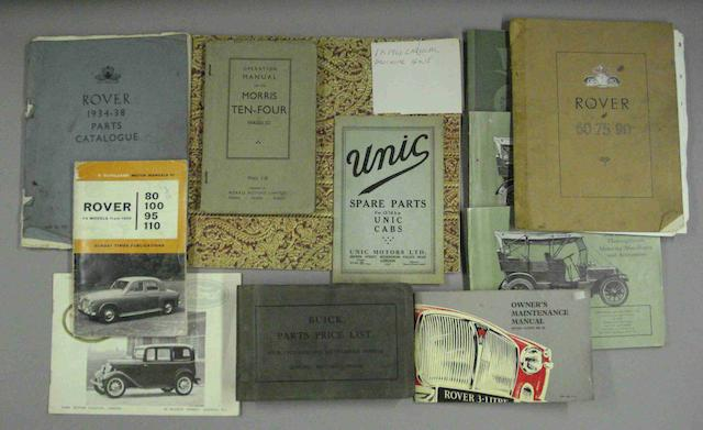 A lot of motoring ephemera,