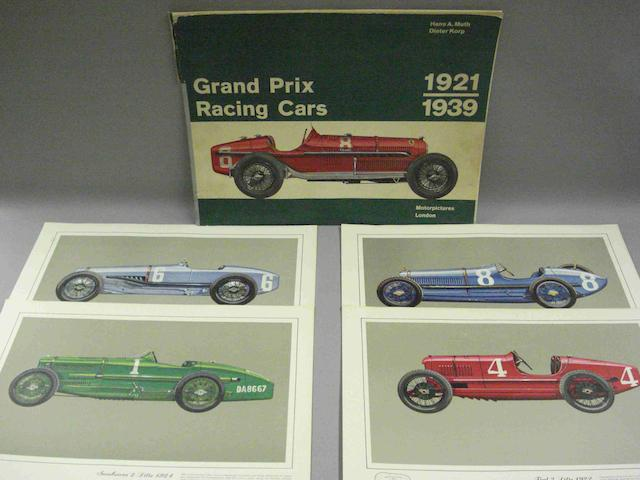 Hans A Muth and Dieter Korp: Grand Prix Racing Cars 1921-1939; a portfolio of prints,