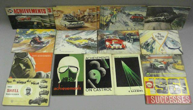 A selection of Castrol and Shell successes brochures,