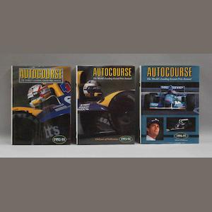 Three volumes of Autocourse annual,
