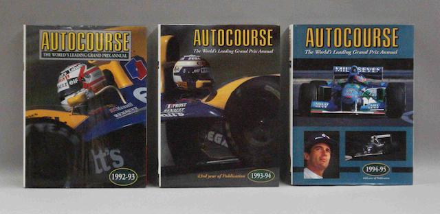 Three volumes of Autocourse annual,