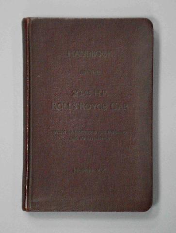 A Rolls-Royce 20-25hp Handbook,