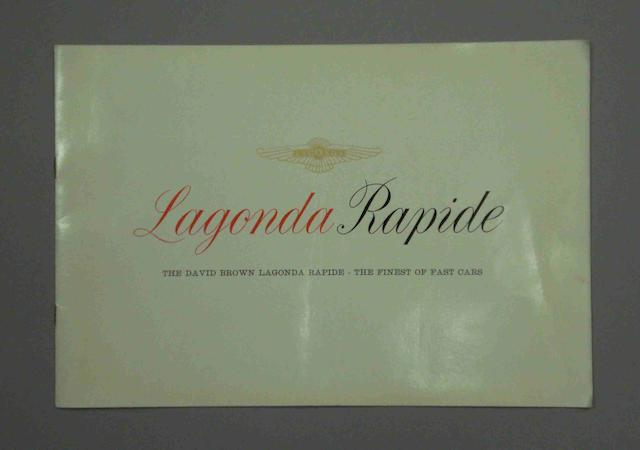 A David Brown Lagonda Rapide sales brochure,