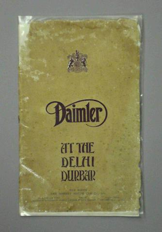 A Daimler 'At the Delhi Durbar' publicity brochure,
