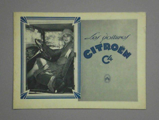 A 1929 Citroen C4 sales brochure,