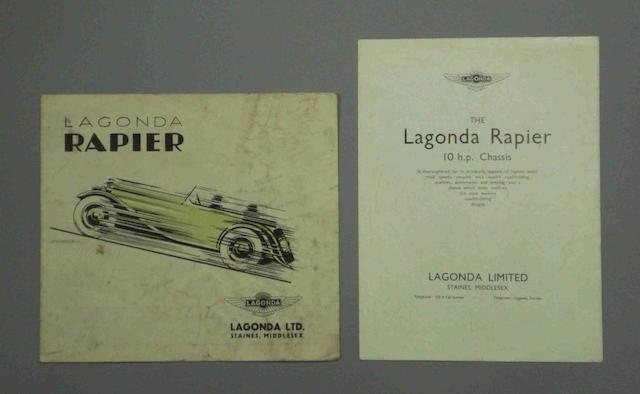 A Lagonda Rapier sales brochure,