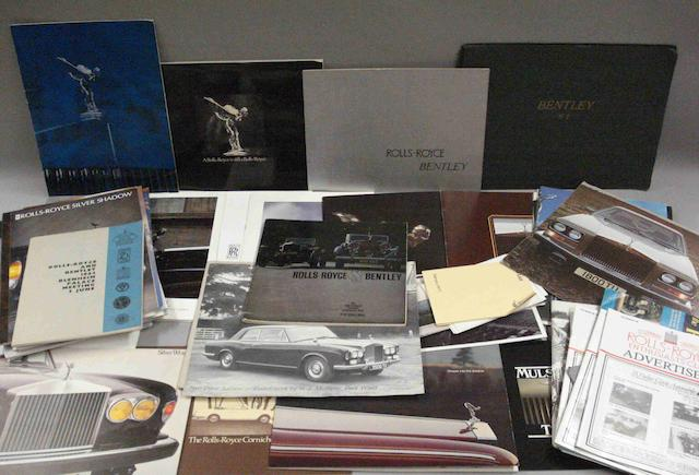 A quantity of Rolls-Royce related ephemera,