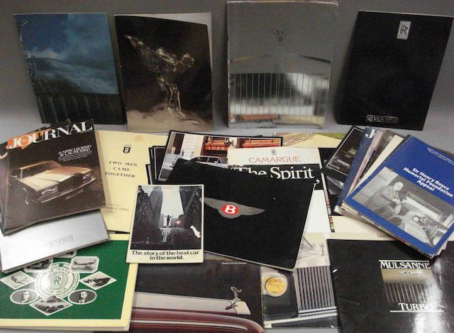 A lot of Rolls-Royce sales literature,