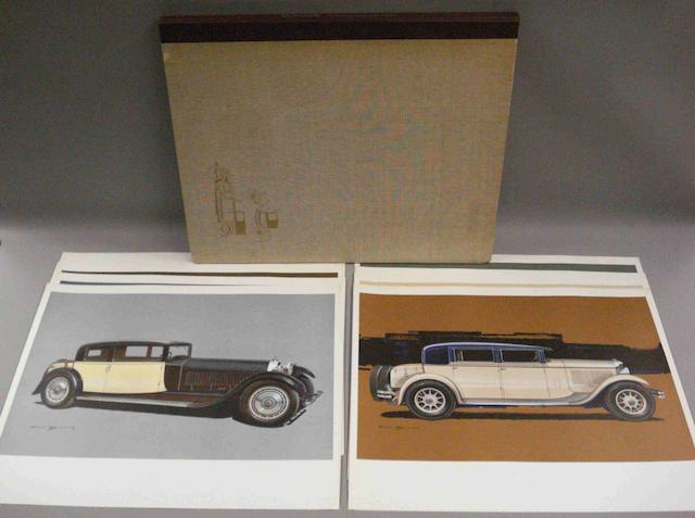 L'Automobile - Collection Style 1925 a 1932; a portfolio of prints,