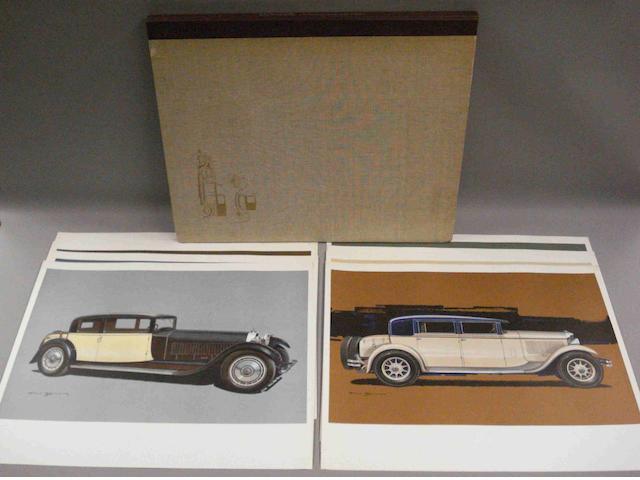 L'Automobile - Collection Style 1925 a 1932; a portfolio of prints,