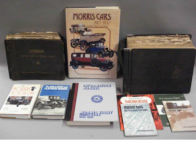 A lot of literature relating to Morris Cars,