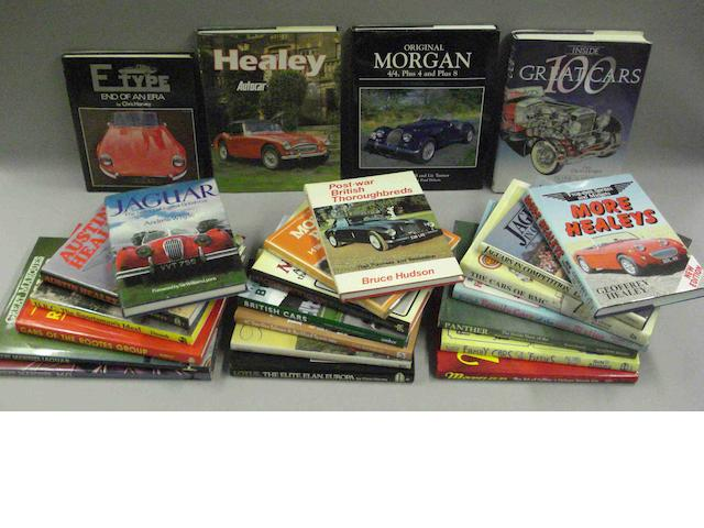 A quantity of literature relating to prestige British car marques,