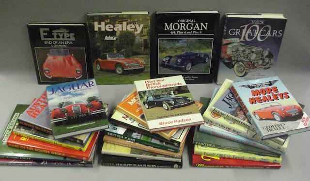 A quantity of literature relating to prestige British car marques,