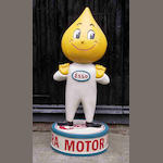 A fibreglass Esso 'Mr Drip' forecourt figure,
